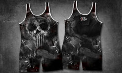 Stitch Punish Skull Singlet