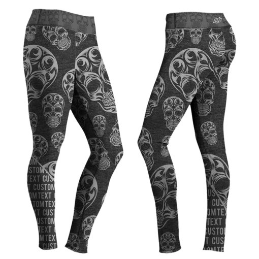 TriBlack Skulls Leggings