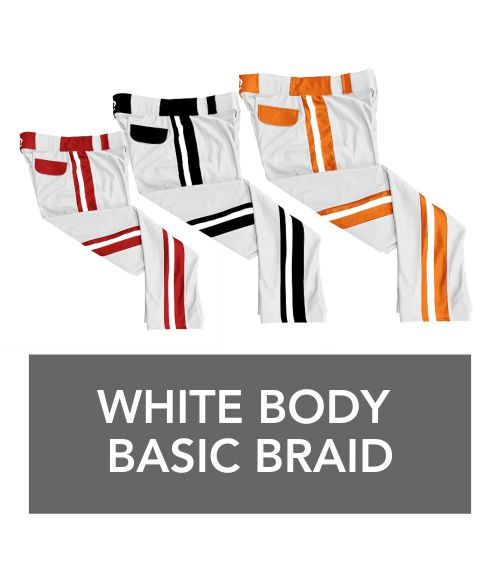 white body basic braid pants