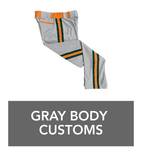 gray body custom braid pants